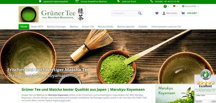 Grüner Tee und Matcha bester Qualität aus Japan