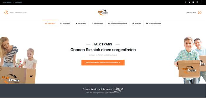 Fair Trans – Ihre Umzugsfirma in Zürich