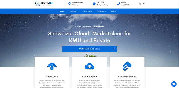 Schweizer Cloud-Marktplatz für Privat und KMU